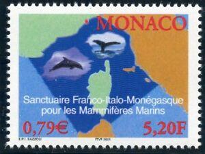 Timbre De Monaco N° 2287 ** Sanctuaire Pour Les Mammiferes Marins