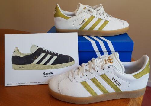 38 vintage bianco 1 5 2 ginnastica Eur 2 Gazelles Originals Scarpe oro da Adidas 3 misura EqtxyvOf