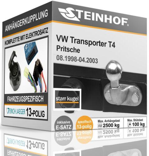 Anhängerkupplung starr Für VW TRANSPORTER T4 Pritsche 1998-2003+E-SATZ 13p SPEZ.