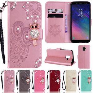 Bling-Owl-Wallet-cuir-Flip-Case-Cover-Pour-Samsung-S20-S10-S9-Plus-A21-A51-A41