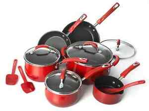 Rachel-Ray-Porcelain-II-13-pc-Cookware-Set-Non-Stick-Oven-Safe-w-Glass-Lids