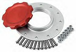 """Billet Aluminum Easy Fill Fuel Cell Gas Cap With 12 Hole Cell Bung Silver 3/"""" ID"""