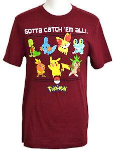 5b53cee0 Pokemon T-shirt Pikachu & Friends Gotta Catch 'em All! Graphic Tee ...