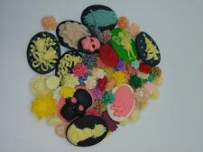 DIY 30g lot different resin flatback cameo Flowers animal figure Random delivery