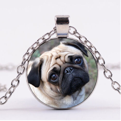 Photo Cabochon Silver Populaire Pendentifs Verre Collier ( piteously Carlin )