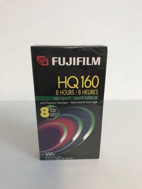 Fujifilm HQ 160 Blank VHS - Brand New Still Sealed - 8 Hour Film