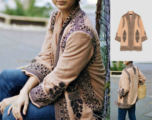 Zara Ethnique Brodé Veste Taille S | eBay