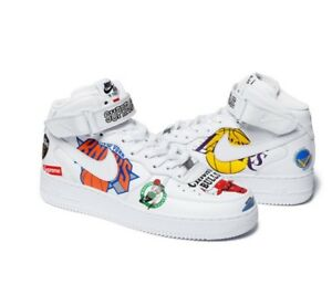 Details about Supreme®Nike®NBA Teams Air Force 1 Mid White US 12 ORDER CONFIRMED!!!