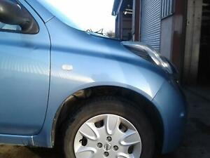 2009-NISSAN-MICRA-COMPLETE-RIGHT-FRONT-WING-PAINTCODE-B33