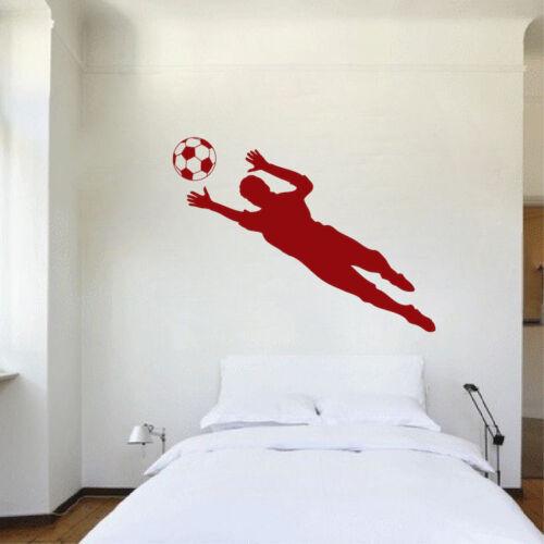 Soccer Goalie Save Wall Decal Sports Goal Art World Cup Boys Room Decal s17
