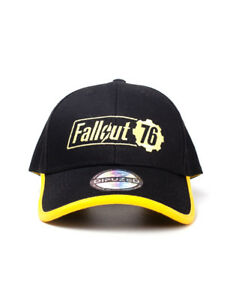 super popular 3036f e0b46 Image is loading OFFICIAL-FALLOUT-76-LOGO-YELLOW-AND-BLACK-BASEBALL-