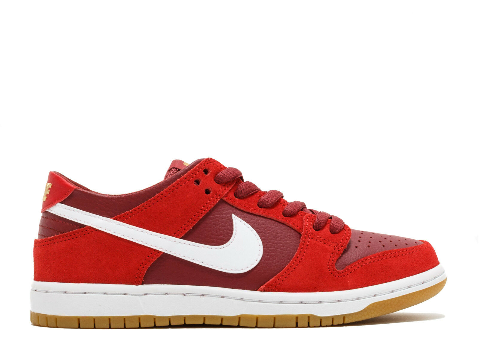Nike SB ZOOM DUNK LOW PRO Track Red White Cedar 854866-616 (678) Men's Shoes