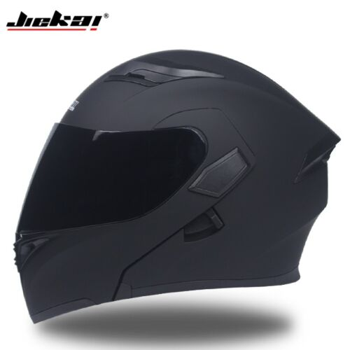 JIEKAI Full Motorcycle Helmets Double Visor DOT Flip Up Racing Street Helmet 902