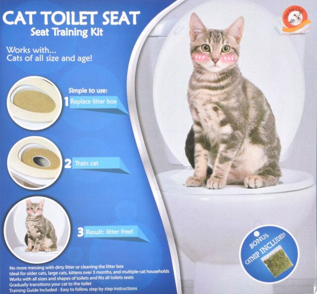 Sensational Trueface Cat Toilet Seat Training Kit Litter Tray Train Kitty System With Catnip Machost Co Dining Chair Design Ideas Machostcouk