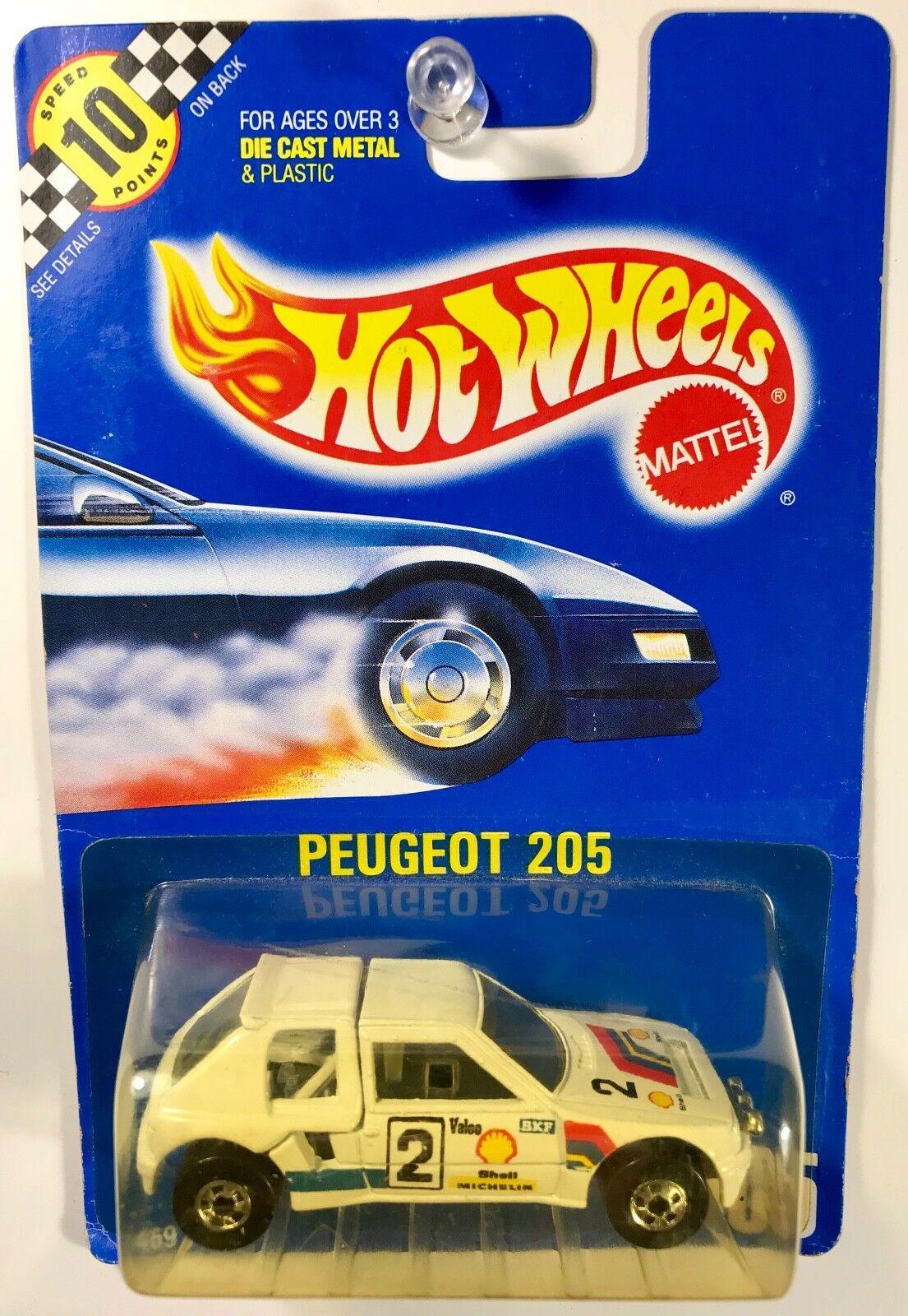heiß Whees  105 Peugeot 205 Blau voitured - RARE