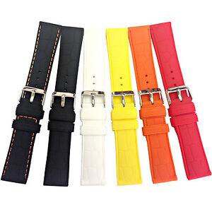 Cinturini-Orologio-Silicone-con-leggera-stampa-coccodrillo-Croco-Rubber-20-22-mm
