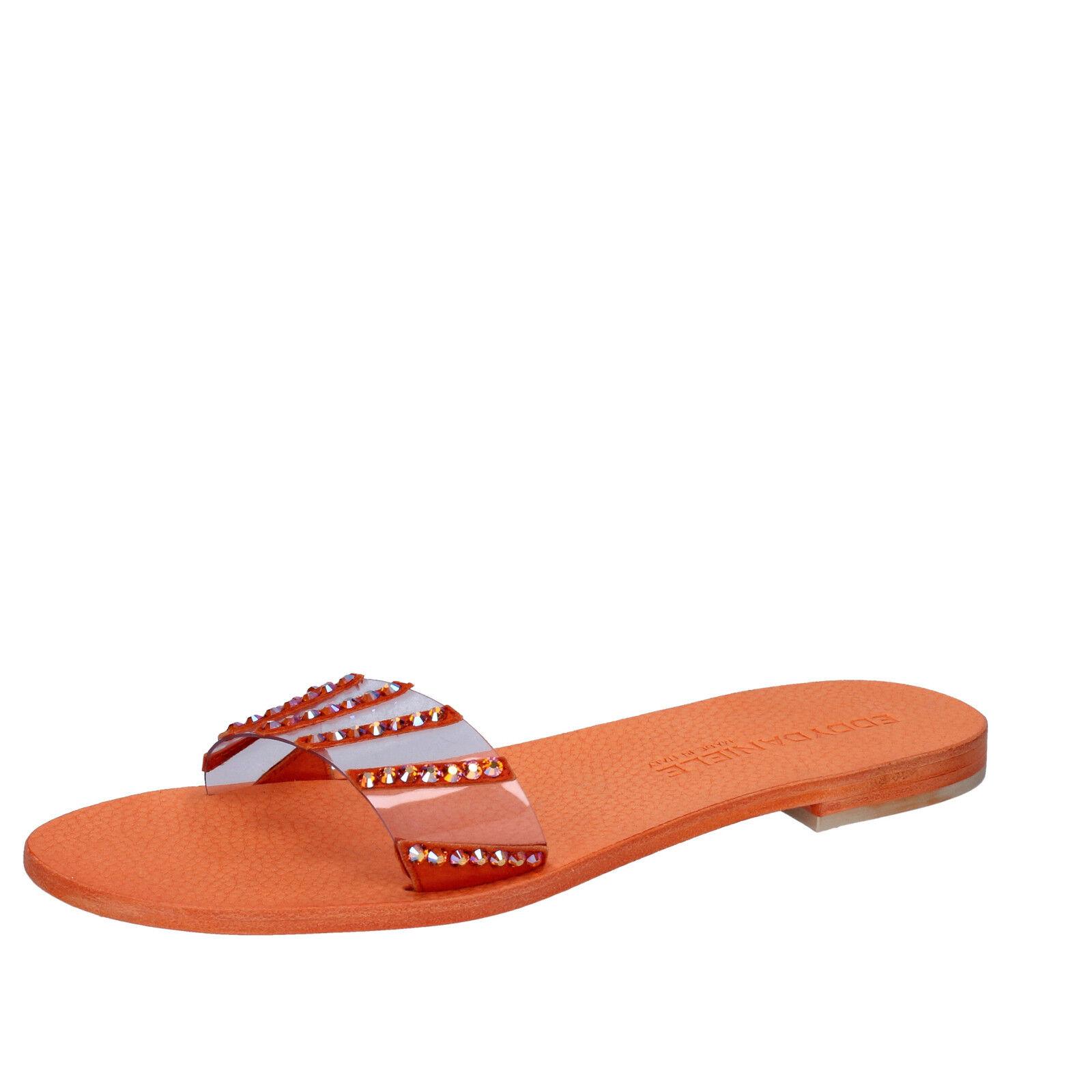 Scarpe donna EDDY DANIELE 37 EU sandali arancione swarovski AW449