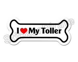 *Dog Bone Magnet* I Love My Shiba Inu  Car Truck Locker