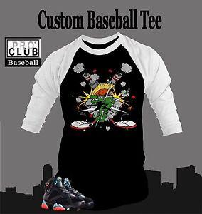 70898f17 Baseball Tshirt to Match Retro Air Jordan 7 Marvin Martian Baseball ...