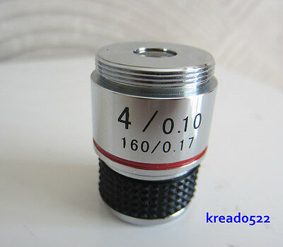 Achromatic Objective Lens,10X 185 Biological Microscope Achromatic Objectives Lens 160//0.17 Achromatic Microscope Objective Microscope amscope