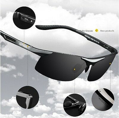 HD Polarized Mens Sunglasses Outdoor Sports Pilot Eyewear Driving Sun Glasses