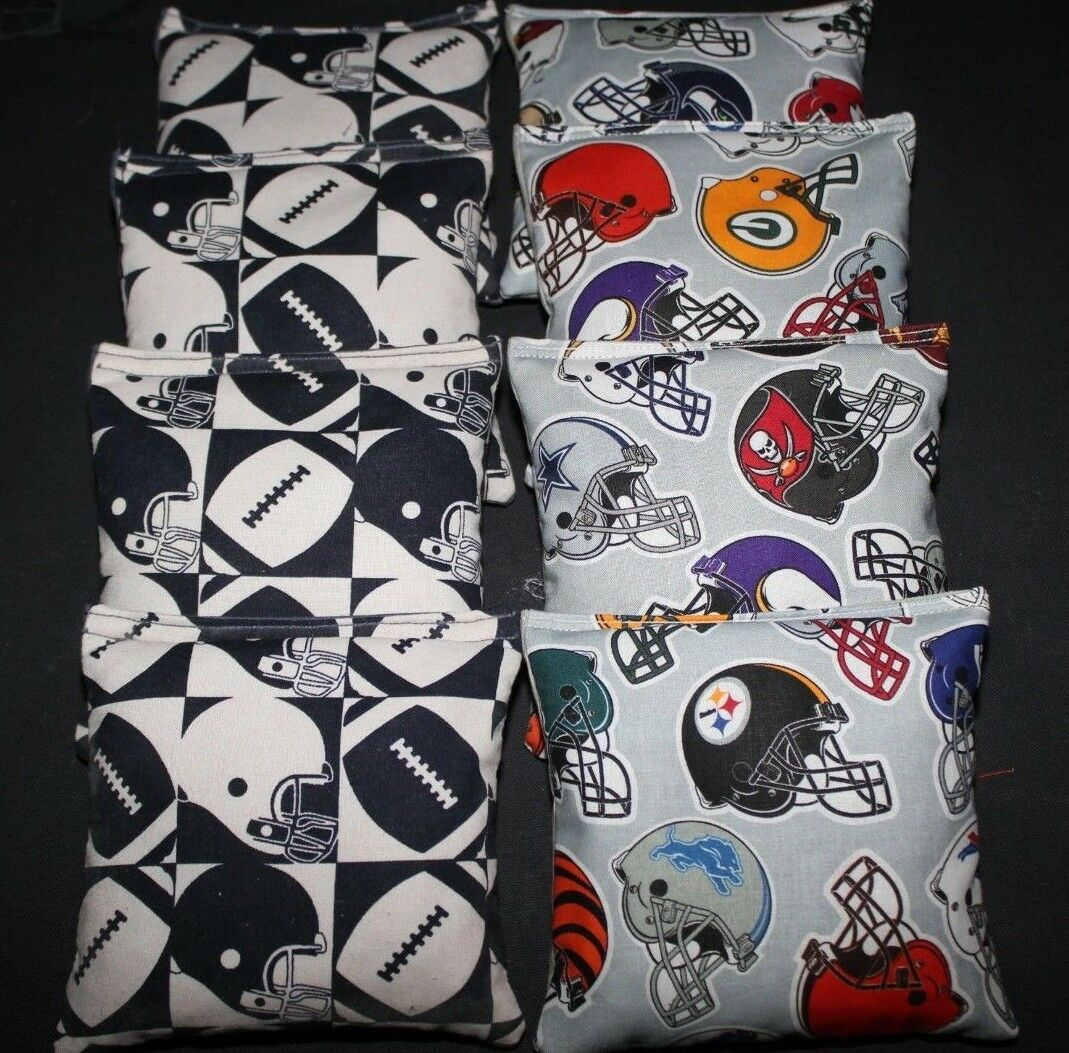 FOOTBALL FANS Bean Bags 8 ACA Regulation Corn Toss Bags NFL FOOTBALL Fans