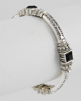 Serenity Prayer Inspirational AA AL-Anon Recovery Black Stretch Bracelet #192-C