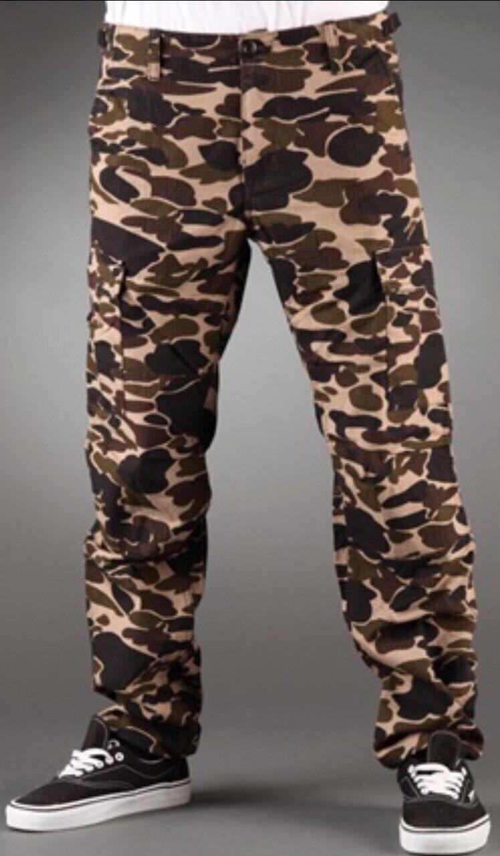 CARHARTT pantalon AVIATION PANT COLUMBIA Camo Isle W30L32 Rinsed