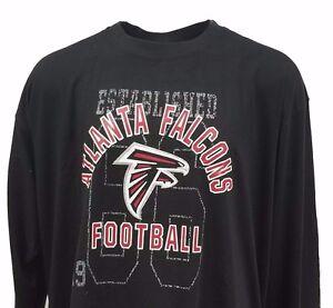 NFL-Atlanta-Falcons-Black-Majestic-Long-Sleeve-T-Shirt-BIG-and-Tall-Sizes-nwt