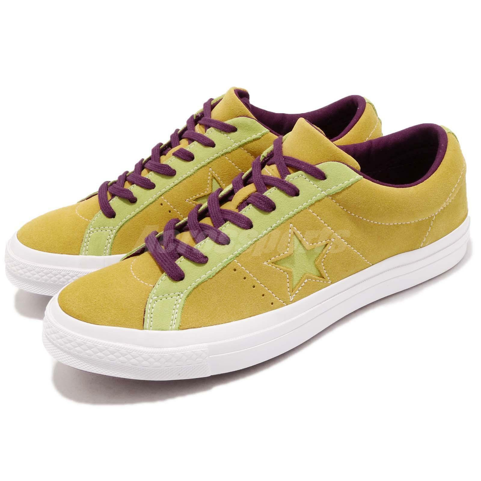 Converse One Star Yellow verde Purple Scarpe Suede Uomo Donna Shoes Scarpe Purple da Ginnastica 161616C 2234f0