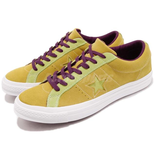ef58723ff006 Converse One Star Yellow Green Purple Suede Men Women Shoes Sneakers 161616C