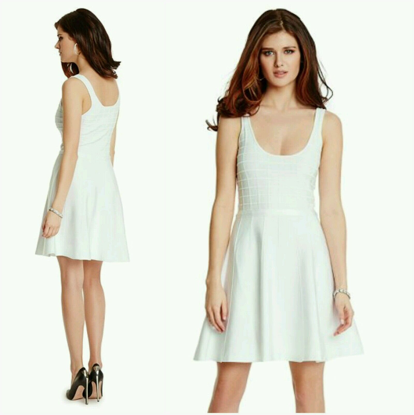 NWT Guess by Marciano white Addisones Bandage Dress size M