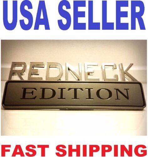 REDNECK EDITION car truck FORD EMBLEM logo sign SUV badge SIGN chrome ornament e