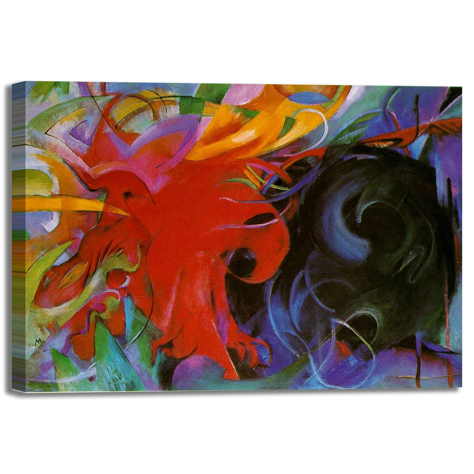 Franz to Marc forme di combattiHommes to Franz quadro stampa tela dipinto telaio arRouge o casa 05acb9