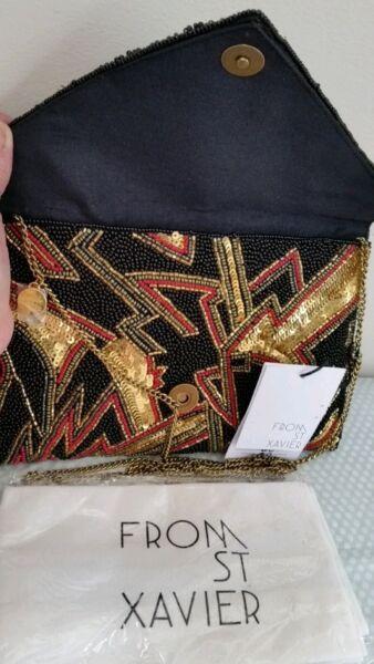 Da A Mano Con Perline St Xavier Art Deco Clutch/borsa Tracolla Chiamato