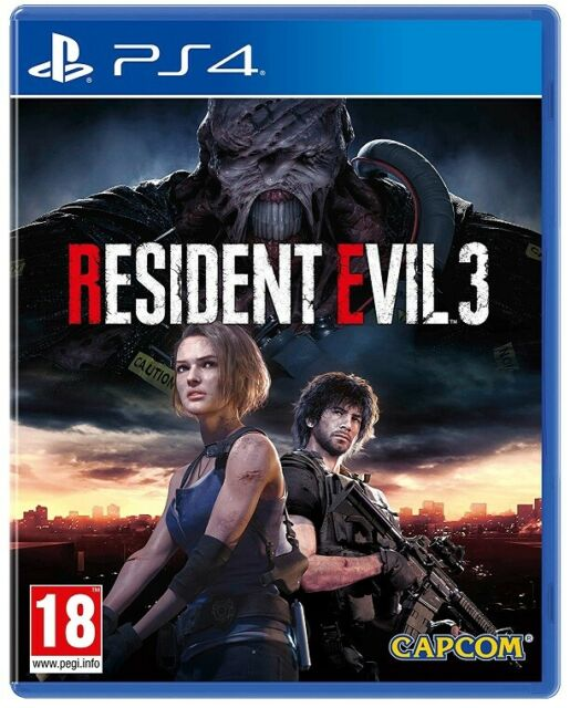 RESIDENT EVIL 3 PS4 GIOCO PLAY STATION 4 NEMESIS REMASTERED NUOVO RE3 SIGILLATO