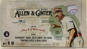2020-Topps-Allen-amp-Ginter-Baseball-Factory-Sealed-Hobby-Box-3-Hits-1-box