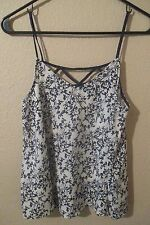 Forever 21 XXI Silky Floral Cami Blouse Top XS Anthropologie Madewell