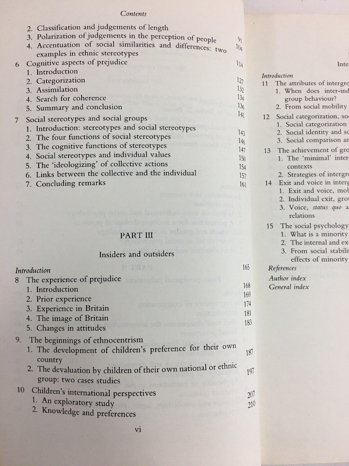 Human Groups and Social Categories : Studies in Social Psychology by Henri  Tajfel (1981, Paperback)