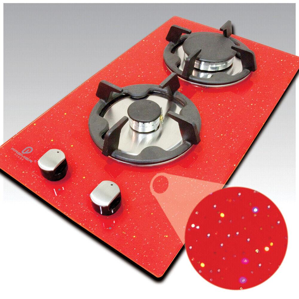 Gamme Premier 30 cm 2 Bague Rouge Sparkle Galaxie Granite Verre GAS Plaque-DSE
