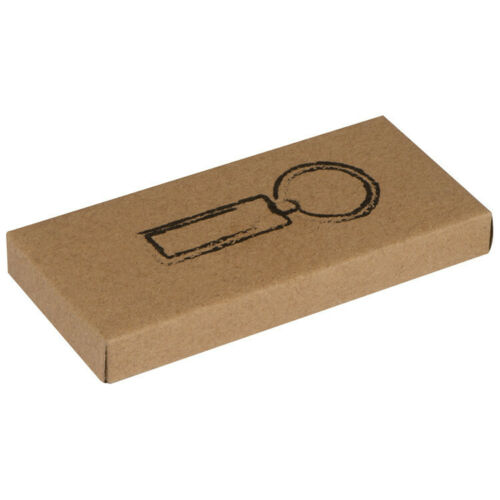 rechteckig verchromt Metall-Schlüsselanhänger
