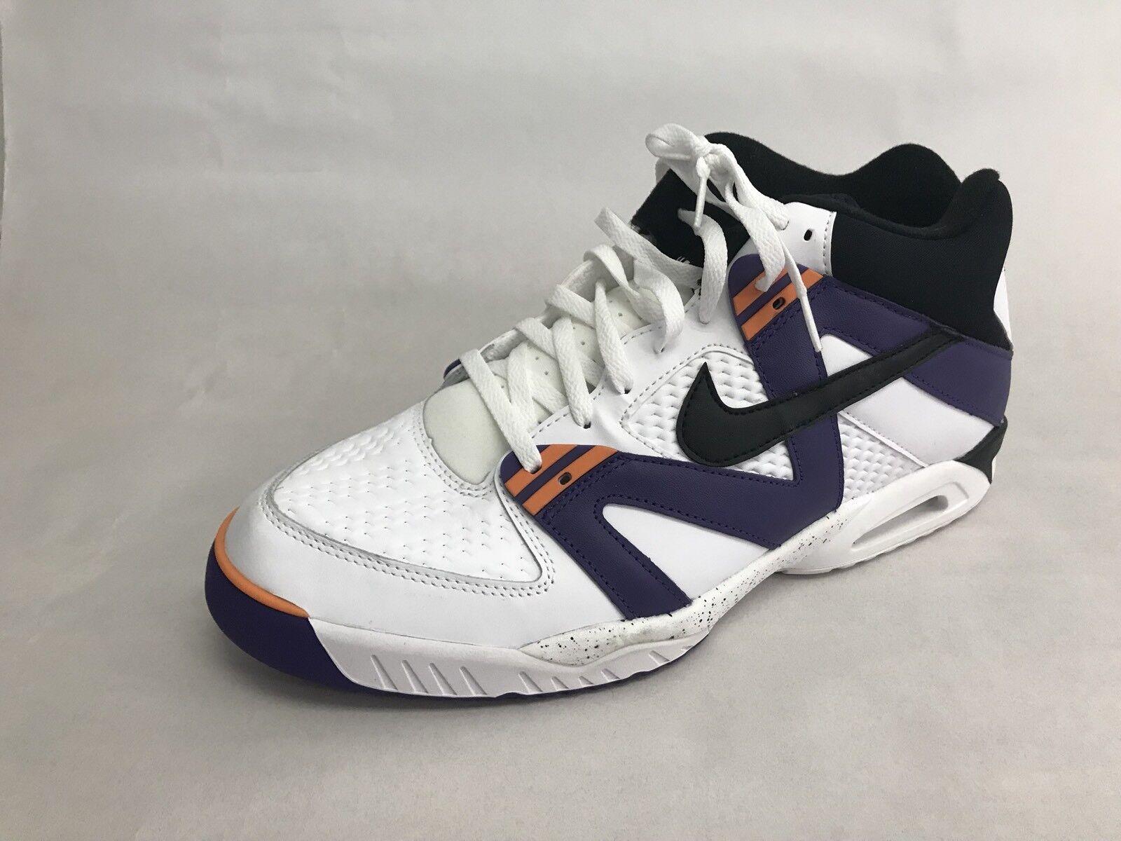 Nike Air Tech Challenge 3s Purple - Agassi French Open Purple 3s Orange - Men's 15 e54a1b