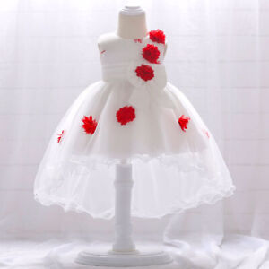 FONMA Toddler Girls Summer Princess Dress Kids Baby Party Wedding Sleeveless Dresses