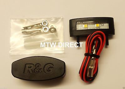 R/&G Racing Tail Tidy Number Plate Light Unit Only Black Replacement LA0002