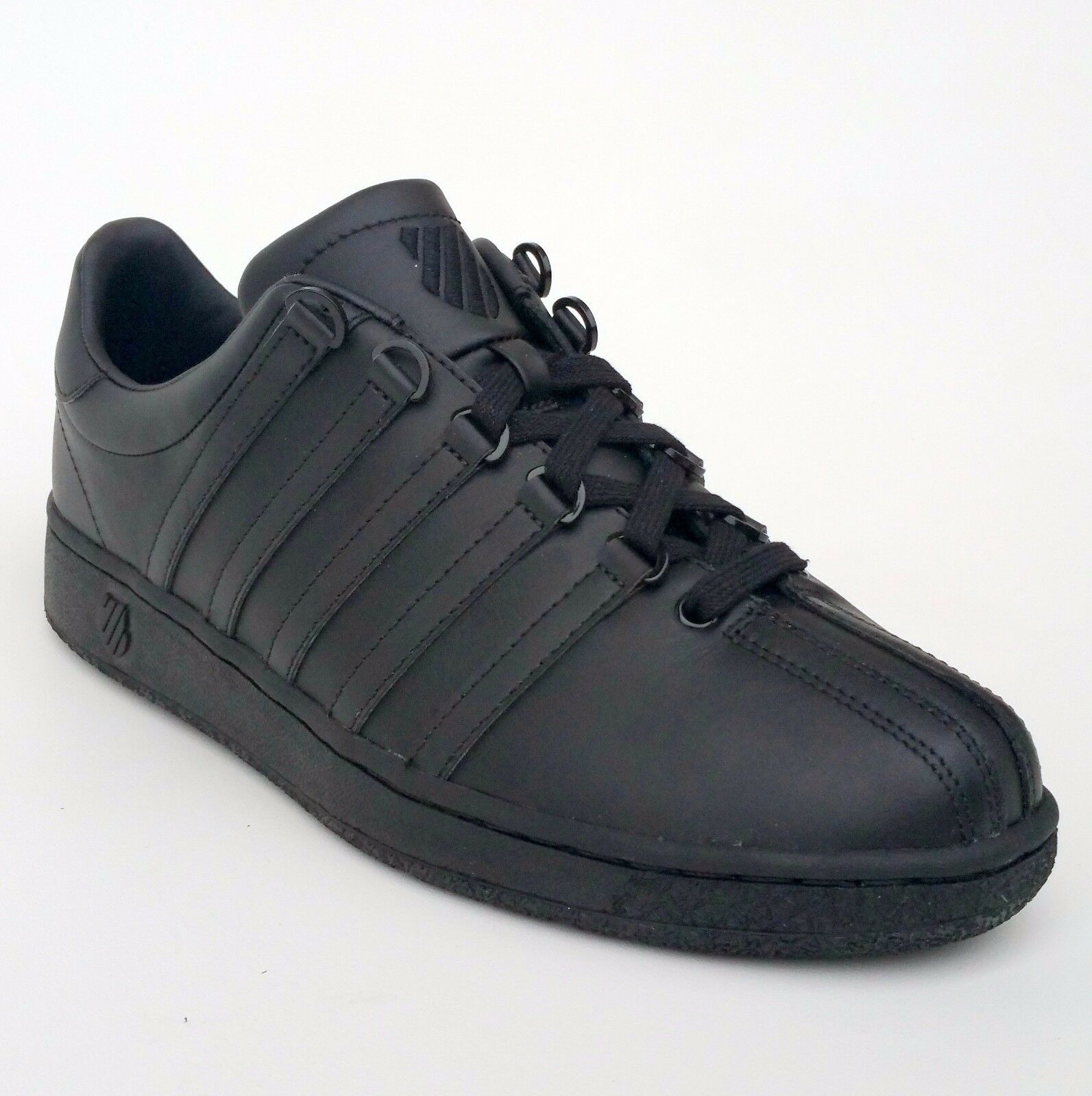 K Swiss Classic VN 03343001M Black Leather Mens shoes Fashion Sneakers Sizes