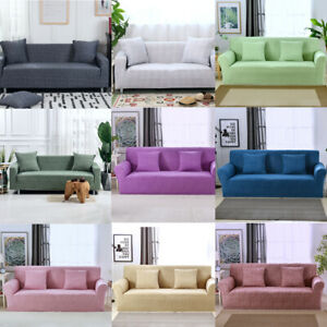 Stretch Loveseat Sofa Covers 1 2 3 4 Seater Couch Cover L Shape Corner Slipcover