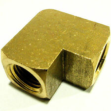 """Brass Fitting Propane Elbow ¼"""" x ¼"""" Female Pipe High Pressure American Made"""