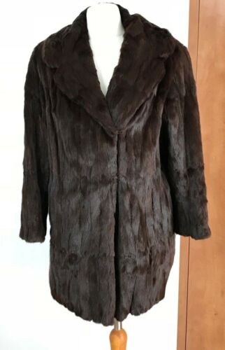 Størrelse Jacket 12 Vintage Frakke Dark Chocolate Brown Fur Ca Lot11 14 80gfIwgqx