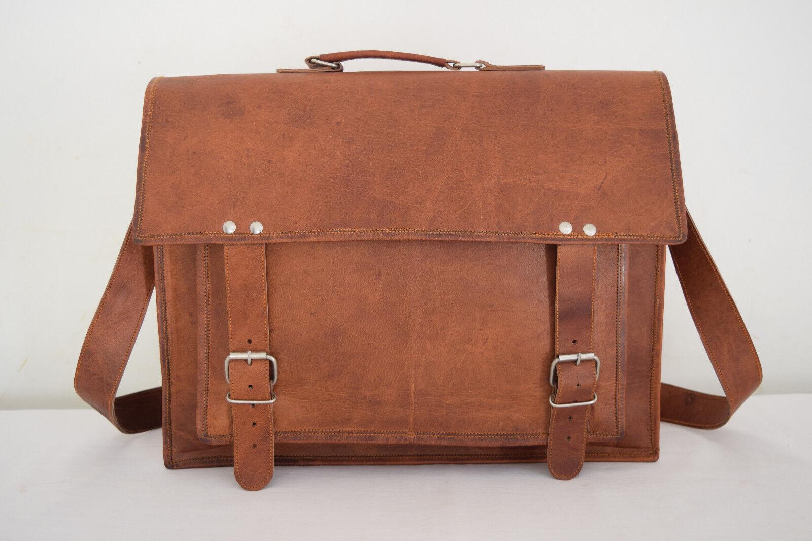 Herren Leder Aktentasche 17  Laptop Umhängetasche Schultertasche Messenger Bag Bag Bag | Moderate Kosten  2c7e54