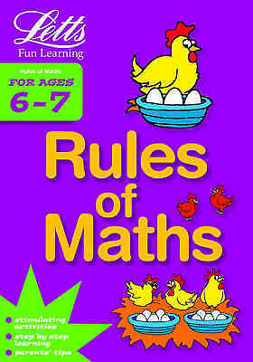 """""""AS NEW"""" Rules of Maths Age 6-7 (Letts Fun Learning), Various, Book"""